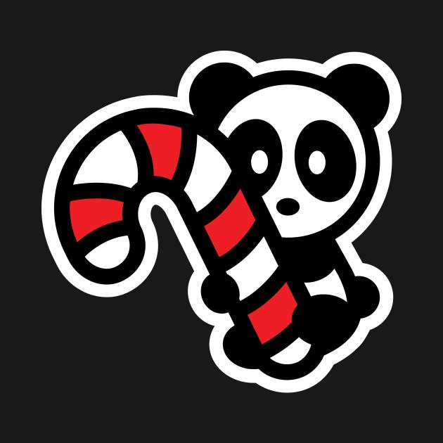 Panda Candy Cane Christmas Bambu Brand Holiday