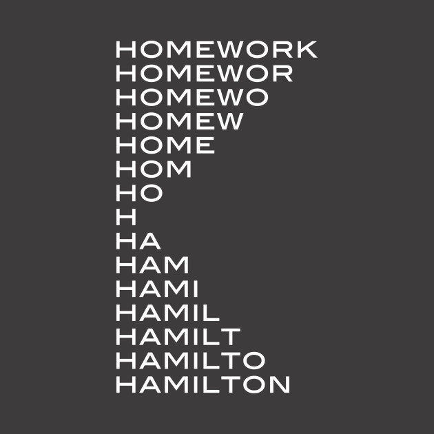 Hamilton > homework