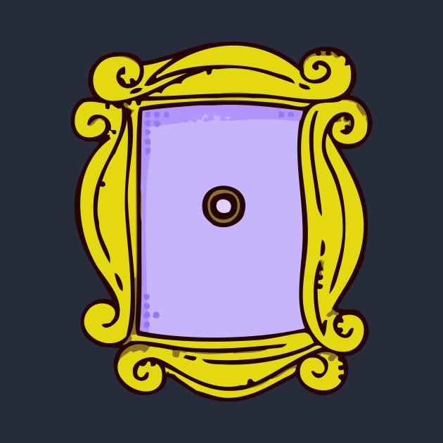 Friends Mirror Frame Peephole