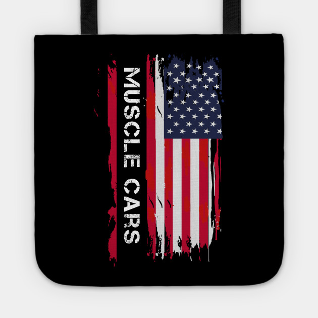 Muscle Car Patriotic USA Flag