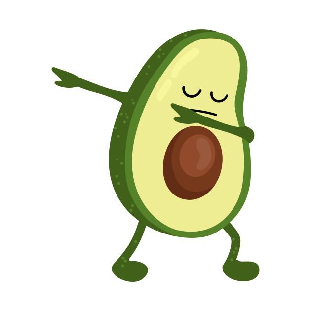 Надписями картинки, авокадо с лицом рисунок