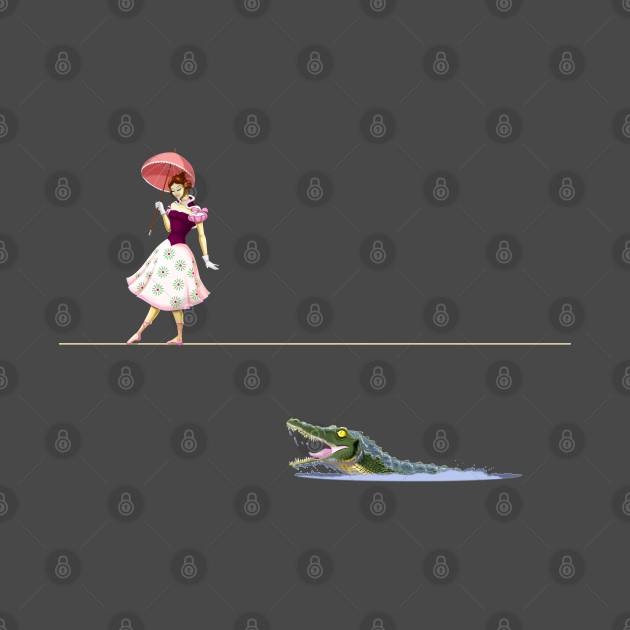 Haunted Tightrope Girl and Gator