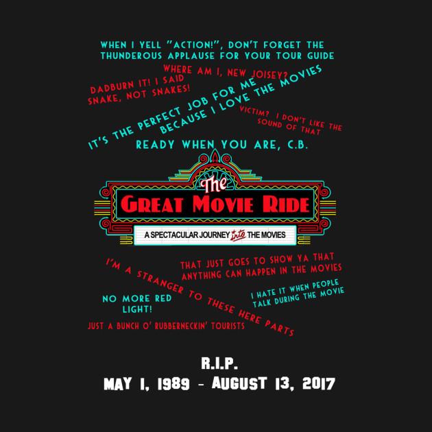 RIP Great Movie Ride Memorial Shirt