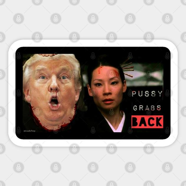 Kill Bill Pussy Grabs Back Donald Trump President Sticker Teepublic