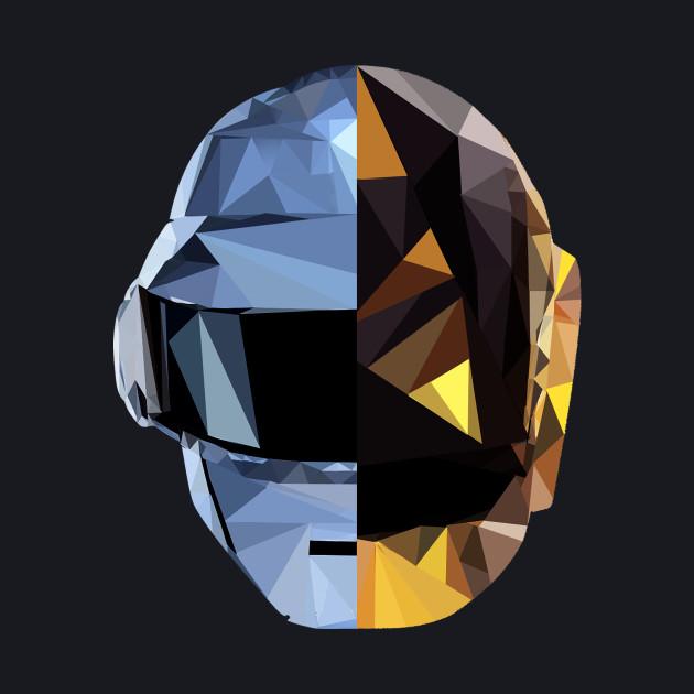 Daft Punk Polygon Heads