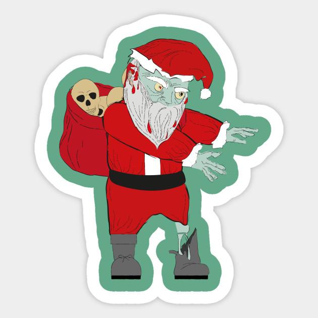Christmas Zombie Santa.Scary Funny Dabbing Zombie Santa Claus Halloween Christmas Gift