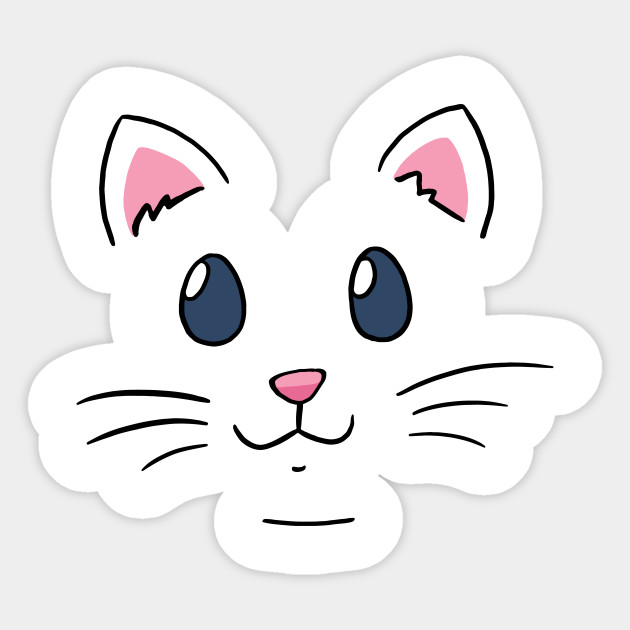 Cat Face Mask And Cartoon Fashion Cat Face Mask Sticker