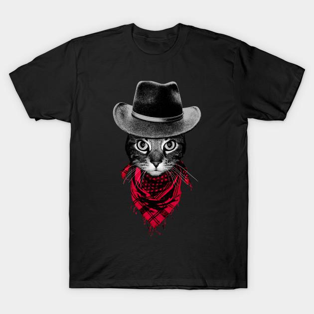 69d9df154b Cowboy Cat - Funny - T-Shirt | TeePublic