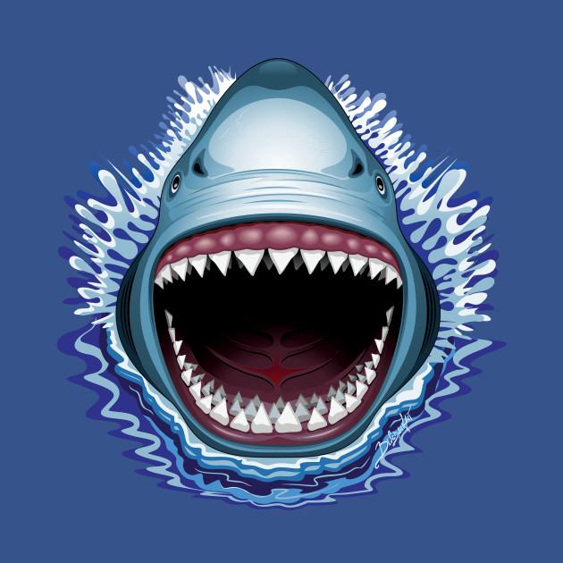 shark jaws attack movie tshirt teepublic