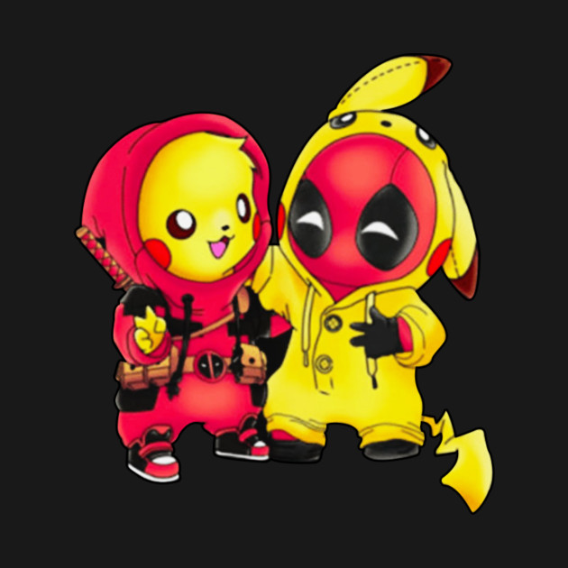 cb7f121eb pikachu Pokemon and Deadpool Pikapool T-shirt - Deadpool2 - T-Shirt ...