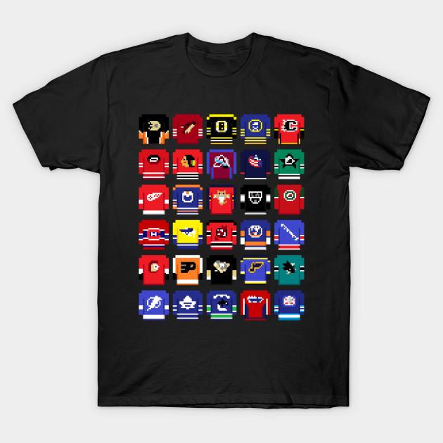 8-Bit Hockey Jerseys - Art - T-Shirt  6cbba55a8