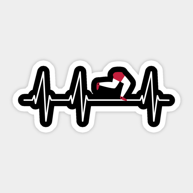 Runner Heartbeat T Shirt Funny Running