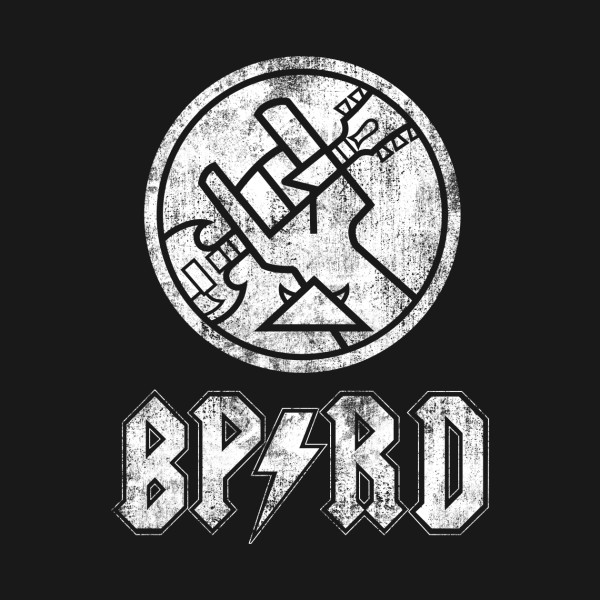 Bprd rock band white dead bone hellboy sticker teepublic