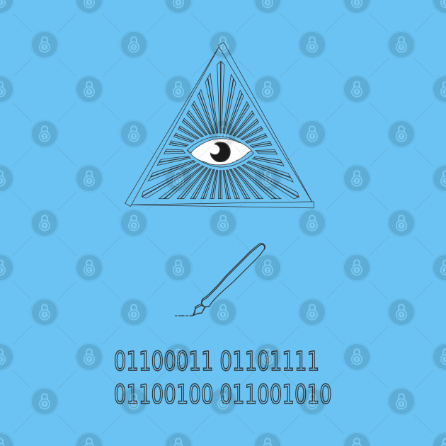 Eye write code computer programmer hipster geek