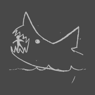 Jaws — Quint's blackboard (light gray ink) t-shirts