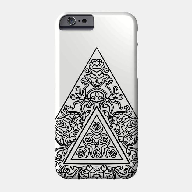 f660e9308428a Triangle Mandala - Black And White Mandala - Phone Case | TeePublic