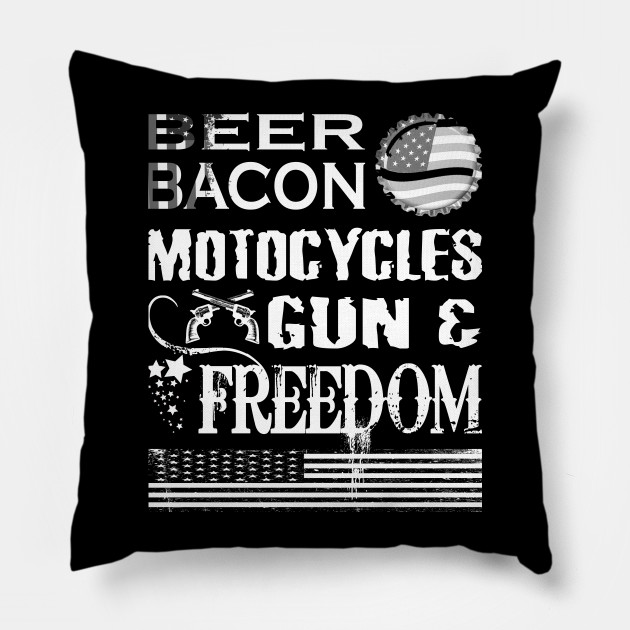 6e5c46af9a Beer Bacon Motorcycles Guns and Freedom July Fun T Shirt - Beer ...