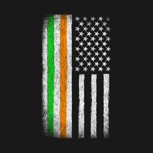 b20b0c78e9666 Irish American Heritage Pride Flag Vintage T-Shirt