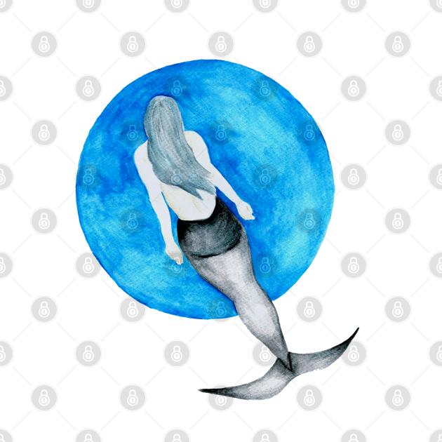 Great White Shark Mermaid - MerMay - Watercolour