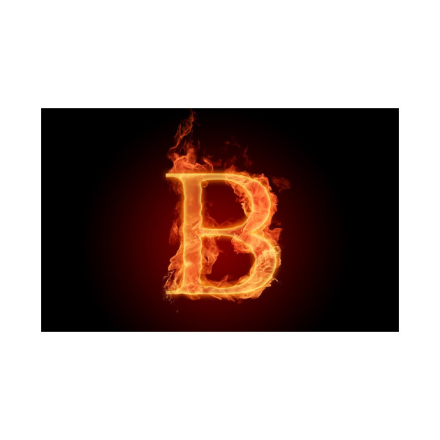 """B Letter In Fire Fire letter set """"..."""