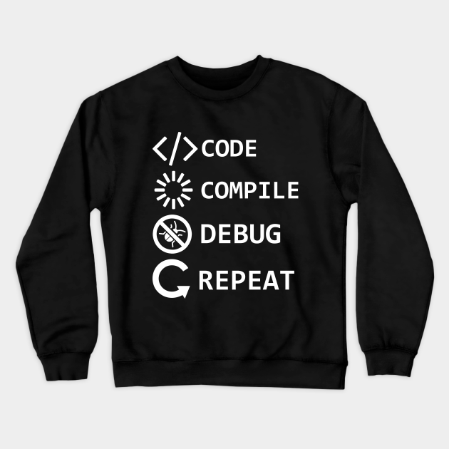 Code Compile Debug Repeat Funny Programmer