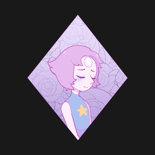 Pearl in a Rose Filled Pink Diamond
