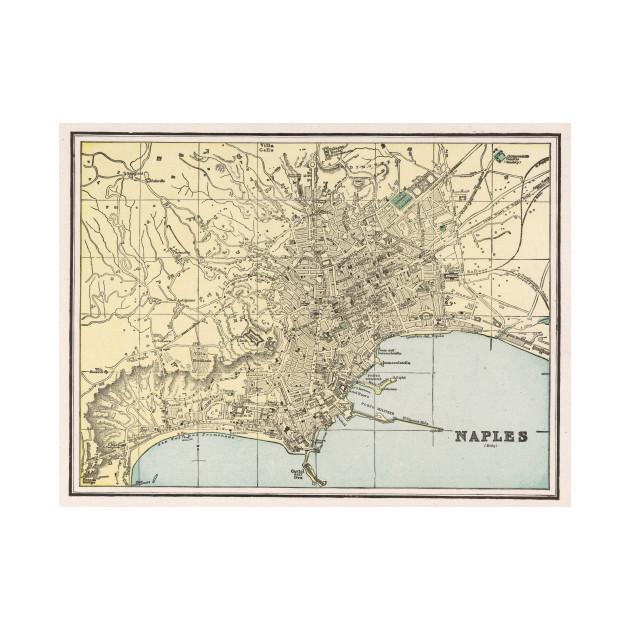 Vintage Map of Naples Italy (1901) - Naples Map - T-Shirt | TeePublic