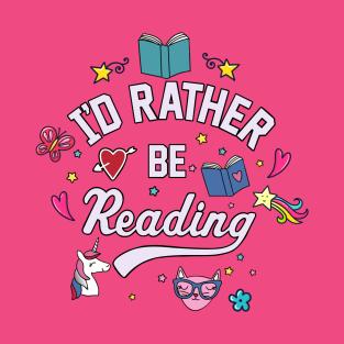 1be140af82061 I d Rather Be Reading T-Shirt