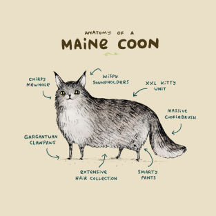 Anatomy of a Maine Coon t-shirts