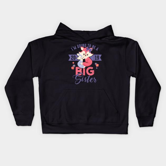 Going to be Big Sister 2019 T-Shirt Cute Foxes Girls Shirt