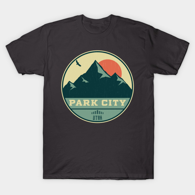 Park City Utah Retro Mountain Badge