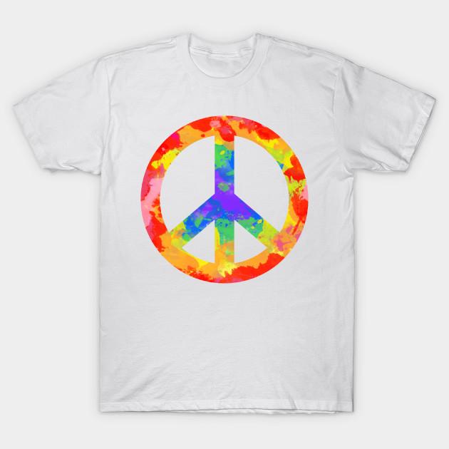 Colorful Peace Symbol For Hippies Peace Symbol T Shirt Teepublic