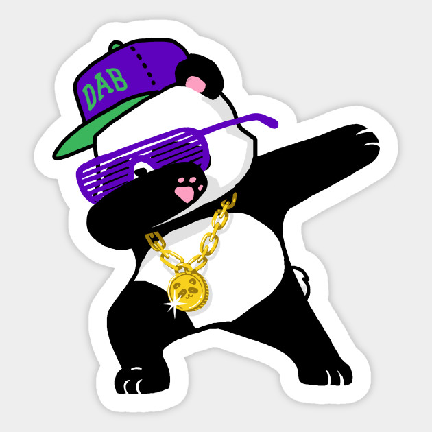 Panda stickers teepublic