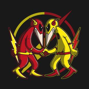 Flash vs Reverse Flash t-shirts