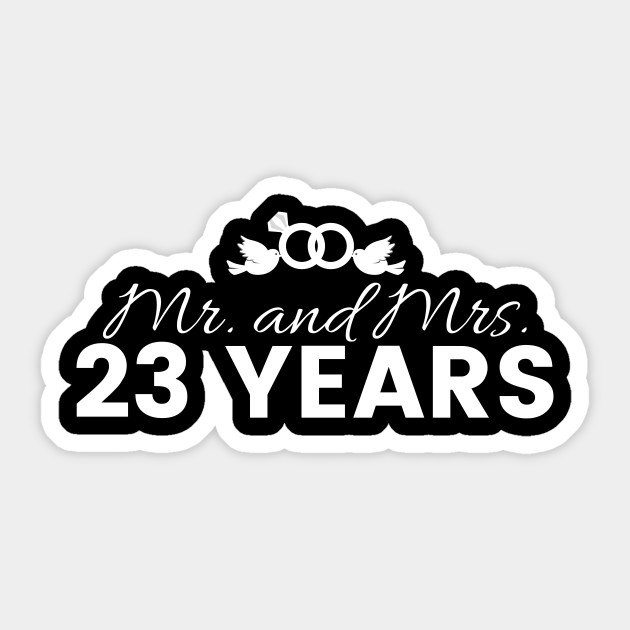 23rd Wedding Anniversary Couples Gift