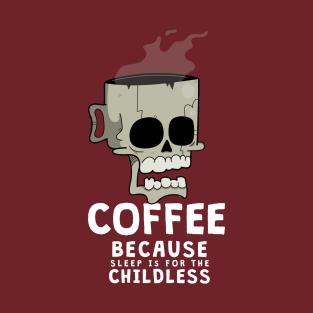 Coffee on the Brain t-shirts