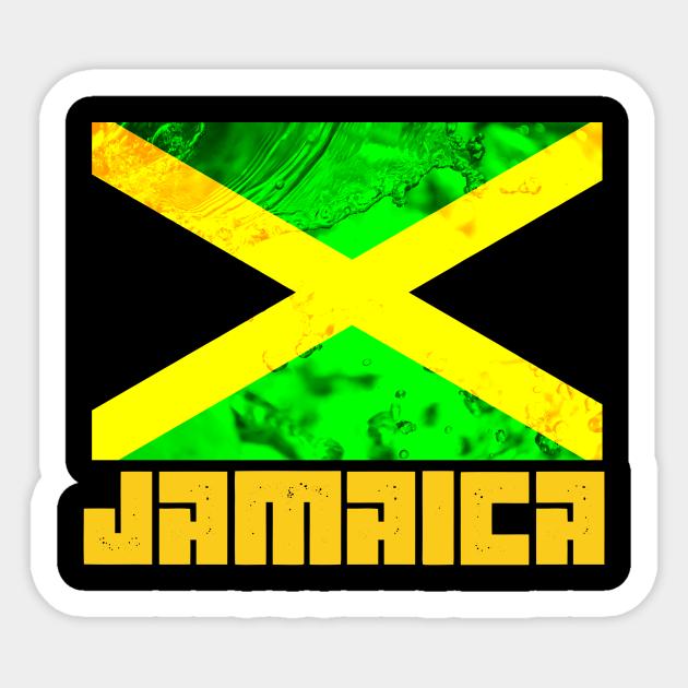 Jamaica Flag Jamaican Pride Gift Jamaican Flag Sticker Teepublic