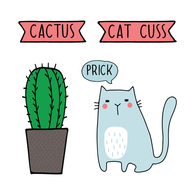 23dbe14c Funny Cat and Cactus - Cactus - Kids T-Shirt | TeePublic