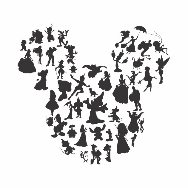 This is a picture of Magic Disney Character Silhouettes