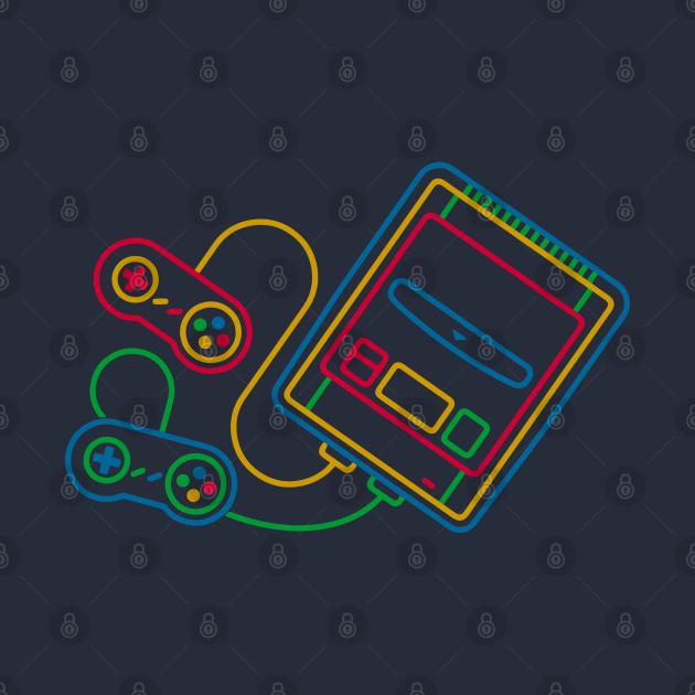 Super Famicom Console Box Graphic