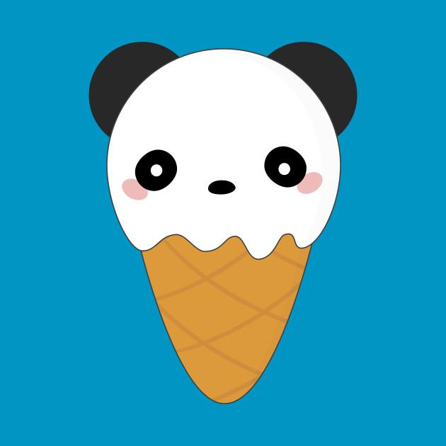 Kawaii Panda Bear Ice Cream Cone