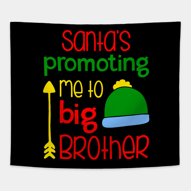 4cf0059845 Big Brother Christmas Pregnancy Announcement Shirt Sibling Holiday  Announcement Tapestry