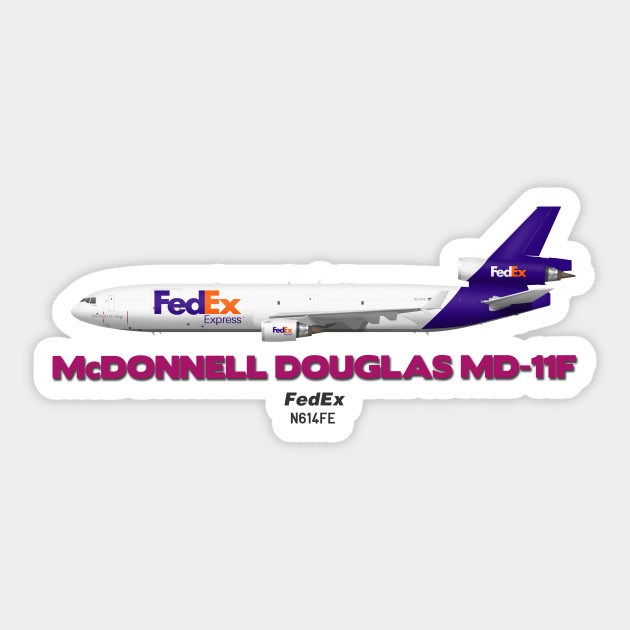 McDonnell Douglas MD-11F FedEx aircraft sticker