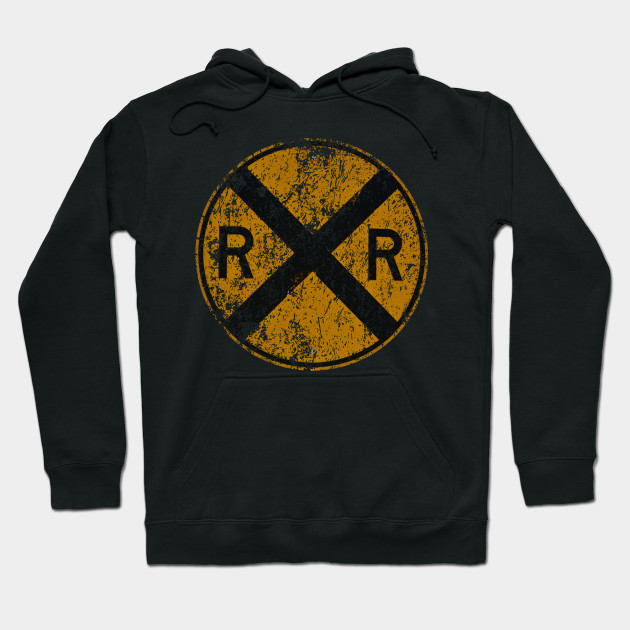 Distressed Railroad Crossing Sign Very Cool Vintage T-shirt