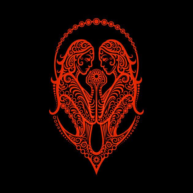 Red Gemini Zodiac Sign