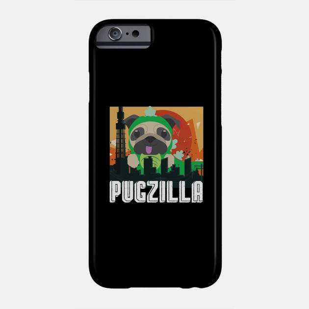 Pugzilla Funny Pug Dog Lover Gift for Halloween Gift Phone Case