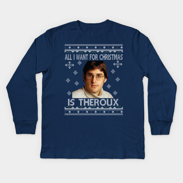 929bca887e46 All I Want For Christmas Is Louis Theroux Knit Pattern Kids Long Sleeve T- Shirt