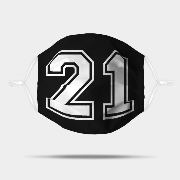 Number 21 Twenty One Back