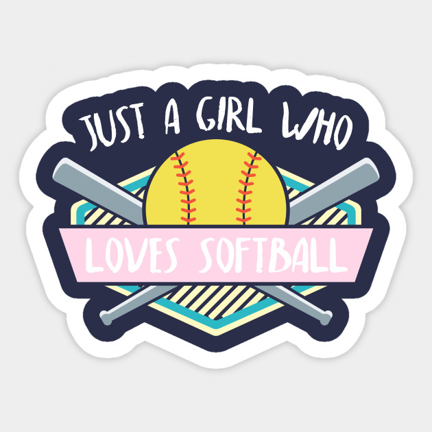 Just A Girl Who Loves Softball Player Gift Ideas