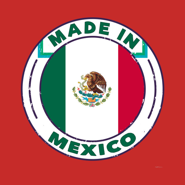 Vintage Made In Mexico T Shirt Flag of Mexico